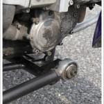 System wahliwego połączenia wózka z moocyklem 2